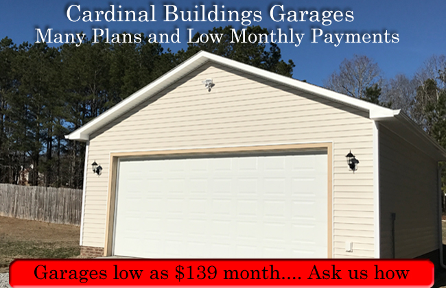 Small garages for Raleigh Clayton, Willow Spring