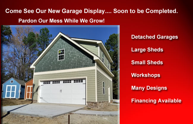 Raleigh Storage Sheds built on site