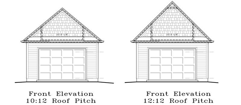 Garage Plan 18×24 One Car Garage