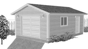 Garage Plan 16×24 One Car Garage G521