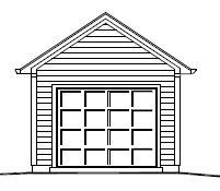 Garage Plan 22×13 One Car Garage