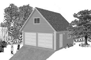 Garage Plan 22×24 Loft Two Car Garage G526