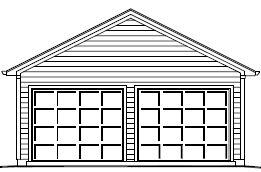Garage Plan 22×24 Two Car Garage Double Door