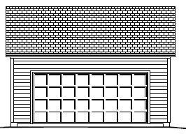 Garage Plan 22×24 Two Car Garage Reverse Gable