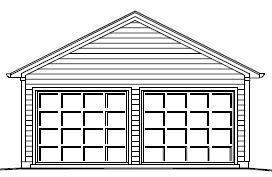 Garage Plan 22×26 Two Car Garage Double Door