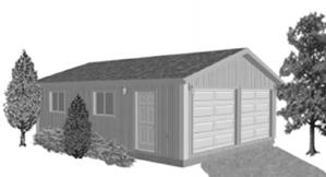 Garage Plan 22×30 Two Car Garage G529