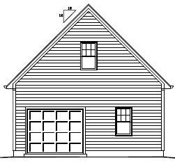 Garage Plan 24×16 One Car Garage Utility Walkup