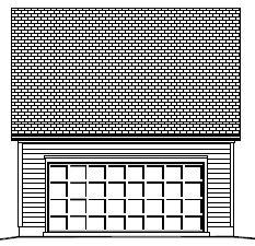 Garage Plan 24×22 Two Car Garage Walkup