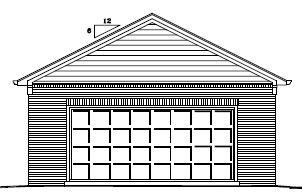Garage Plan 24×24 Two Car Garage Brick