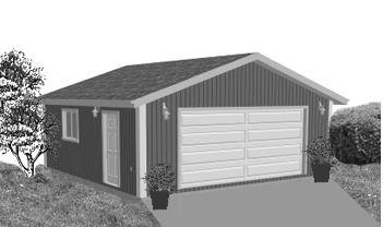 Garage Plan 24×24 Two Car Garage G514