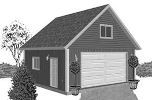 Garage Plan 24×24 Two Car Garage G514c