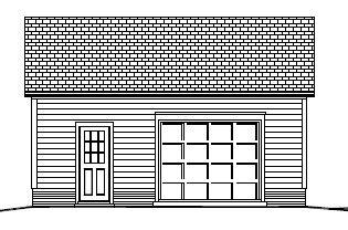 Garage Plan 24×24 Two Car Garage Workshop