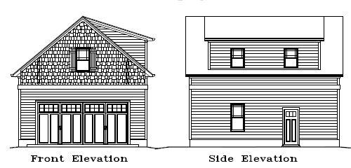 Garage Plan 24×28 Display Two Car Garage Two Story