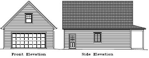 Garage Plan 24×32 Two Car Garage Two Story Walkup Porch